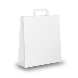 BLISTER 25 SHOPPERS 26X11X35CM BIANCO NEUTRO PIATTINA