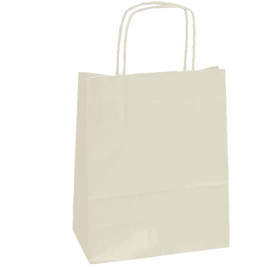 25 SHOPPERS CARTA KRAFT 22X10X29CM TWISTED AVORIO